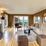 living room wood flooring fireplace