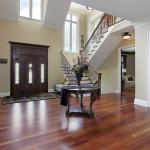 wood flooring foyer front entrance