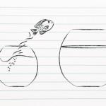 fish bowl leap illustration