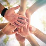 huddle hands