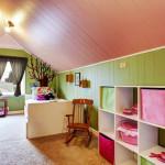 kids bedroom attic low ceiling