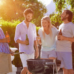 friends at the barbecue