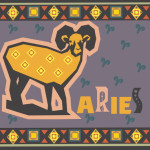 aries astrology sign illustration