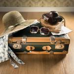 suitcase sunglasses vacation
