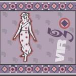 Astrological sign Virgo illustration