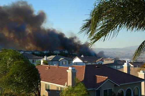 brush fire suburb