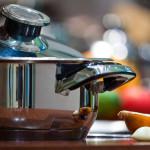 kitchen equipment pan onion shallot