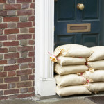 front door sandbags flood preparation