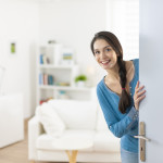 woman inviting into her home