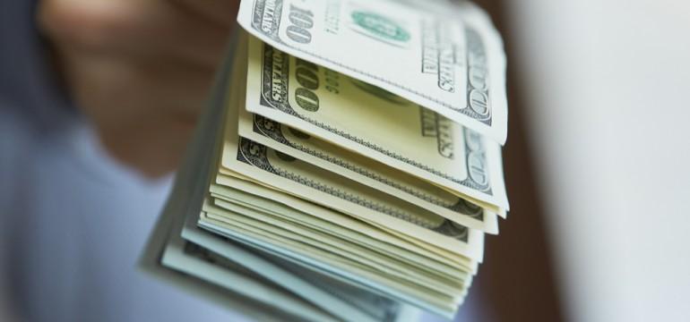 handing over the cash money