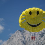 happy parasailors