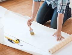 preparing wallpaper