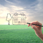 dream home drawing green field