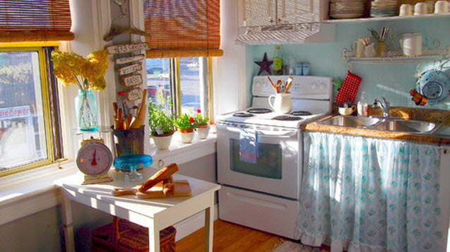 skirted kitchen cabinet sink