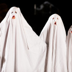 DIY halloween costumes ghostly trio