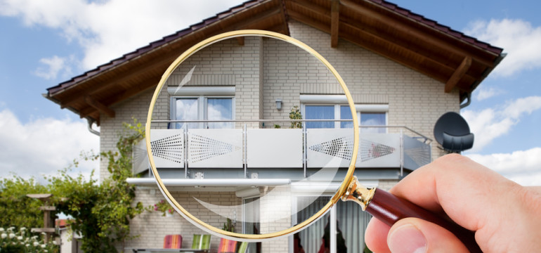 home inspection magnifying glass