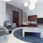 gray and brown stylish living room