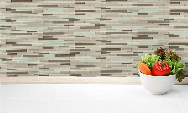 Salerno Glass Mosaic - Designer Stripe