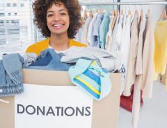 donation box declutter