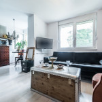 antique furniture in modern stylish space