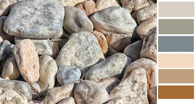 color palette on the rocks