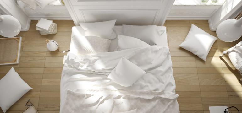 overhead minimalist bedroom decor