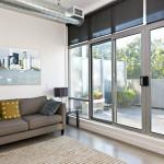 concrete floor living area balcony