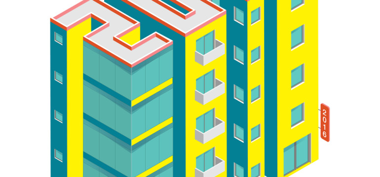2016 buildings illustration