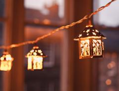 Christmas home decorations mini lantern string lighting