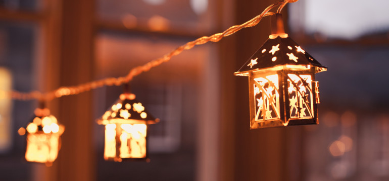 Christmas home decorations mini lantern string lighting