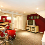 finished basement remodel drum kit