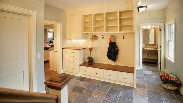 mudroom slate flooring