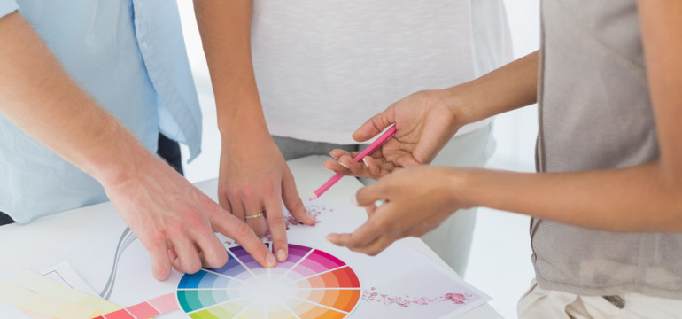 color wheel interior designer