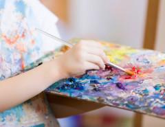 kid art painting pallette