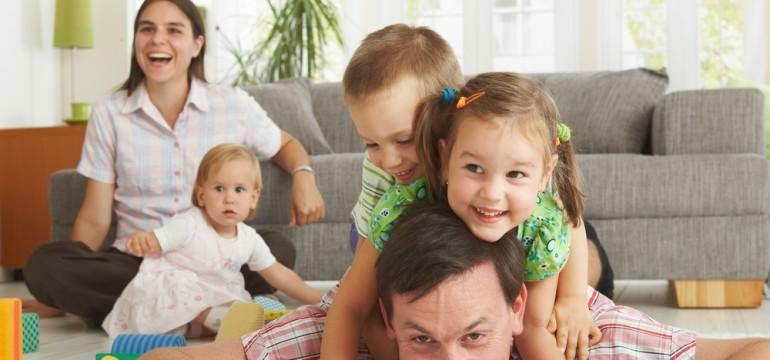 family room happy family
