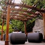 wood pergola patio furniture