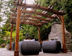 wood pergola patio furniture