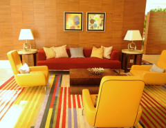 living room warm colors