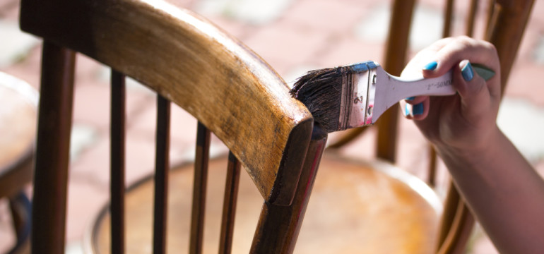 restore antique chair painting refinish