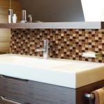optico glass tile and bathroom sink mirror combo