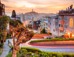 San Francisco Lombard Street sunset