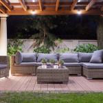 outdoor room pergola patio furniture