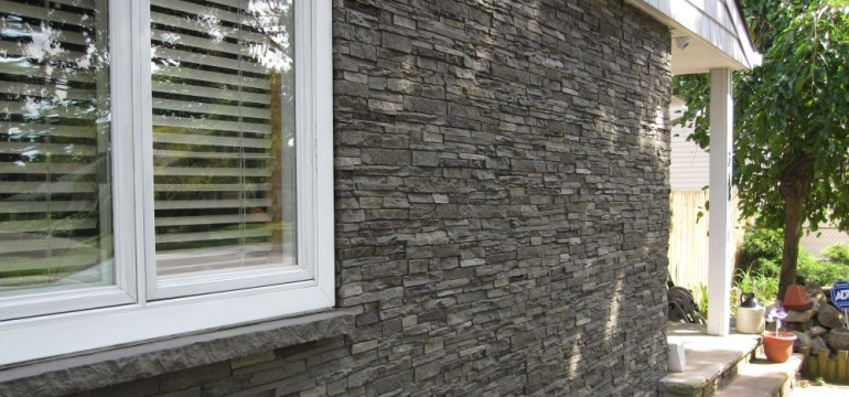 Faux stone siding slate stone iron panel