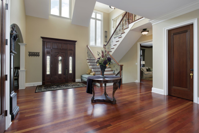 wood flooring foyer front entrance