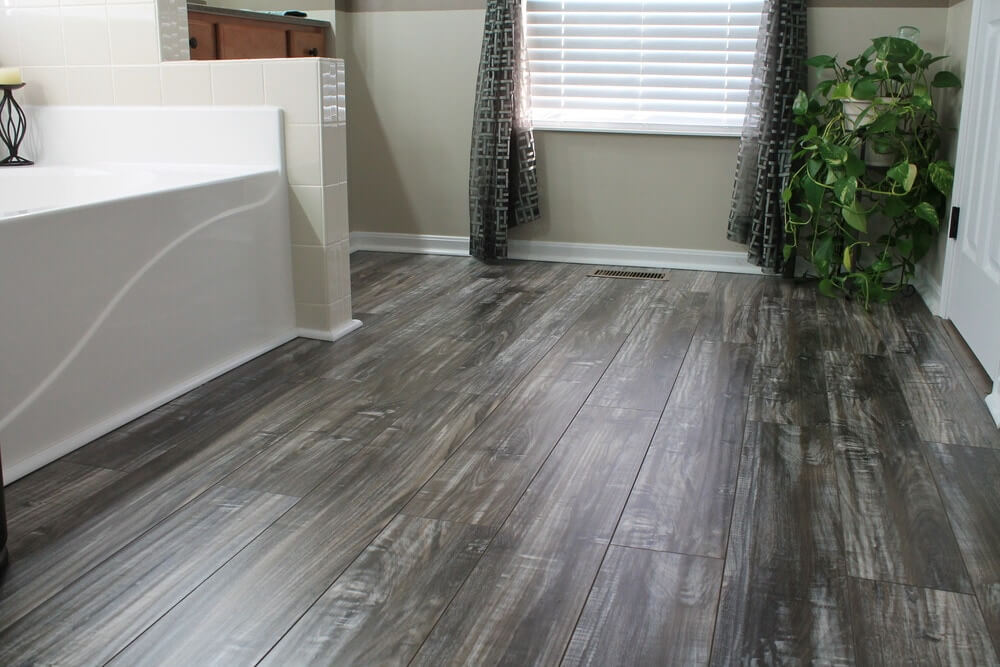 grey laminate floor