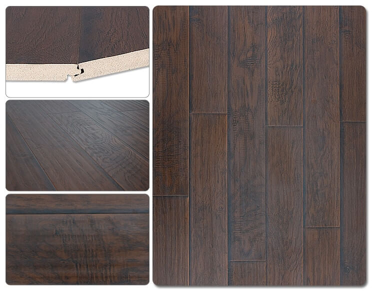 Lamton Laminate - 12mm Hickory Ebony SKU: 10077488