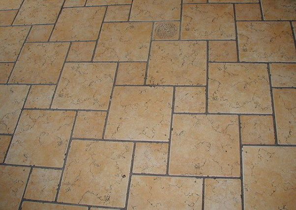 Old tile floor