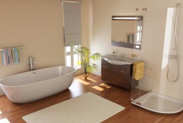 laminate floor bathroom