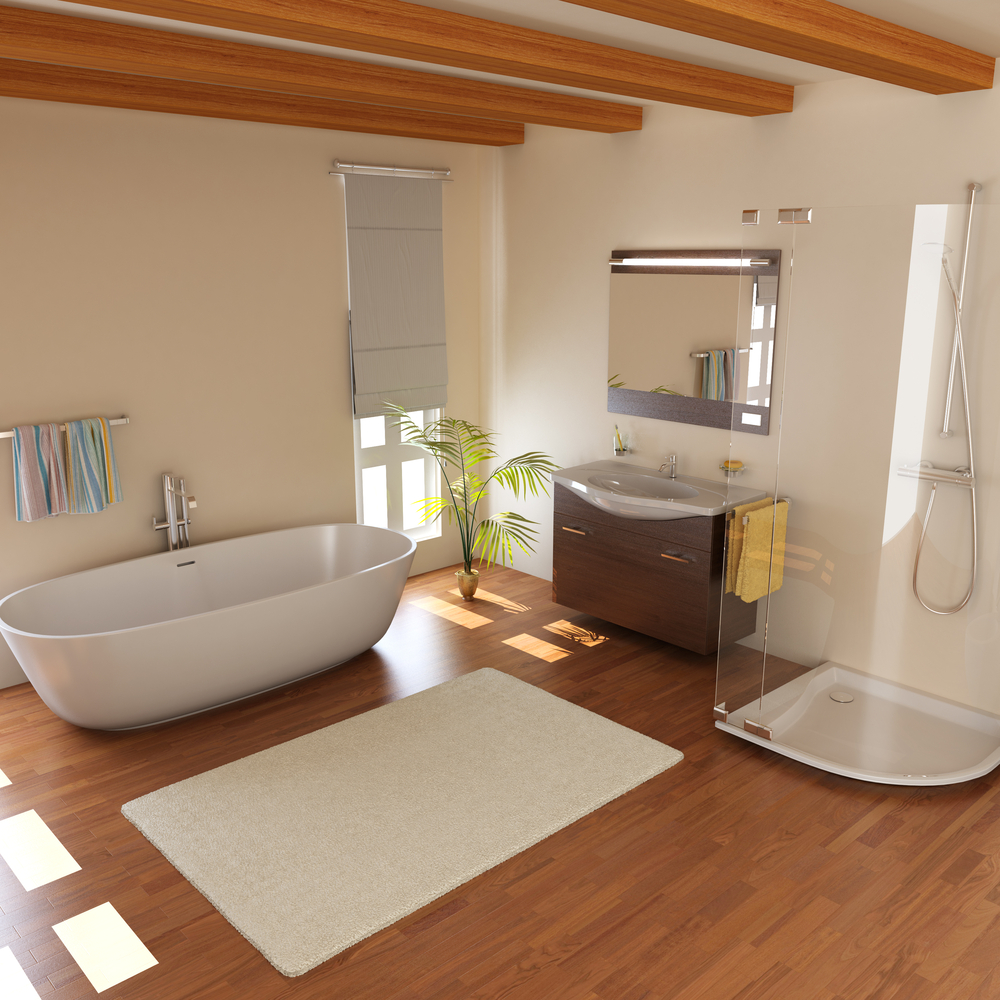 floor bathroom be great bathrooms for in flooring as would a this laminate pin