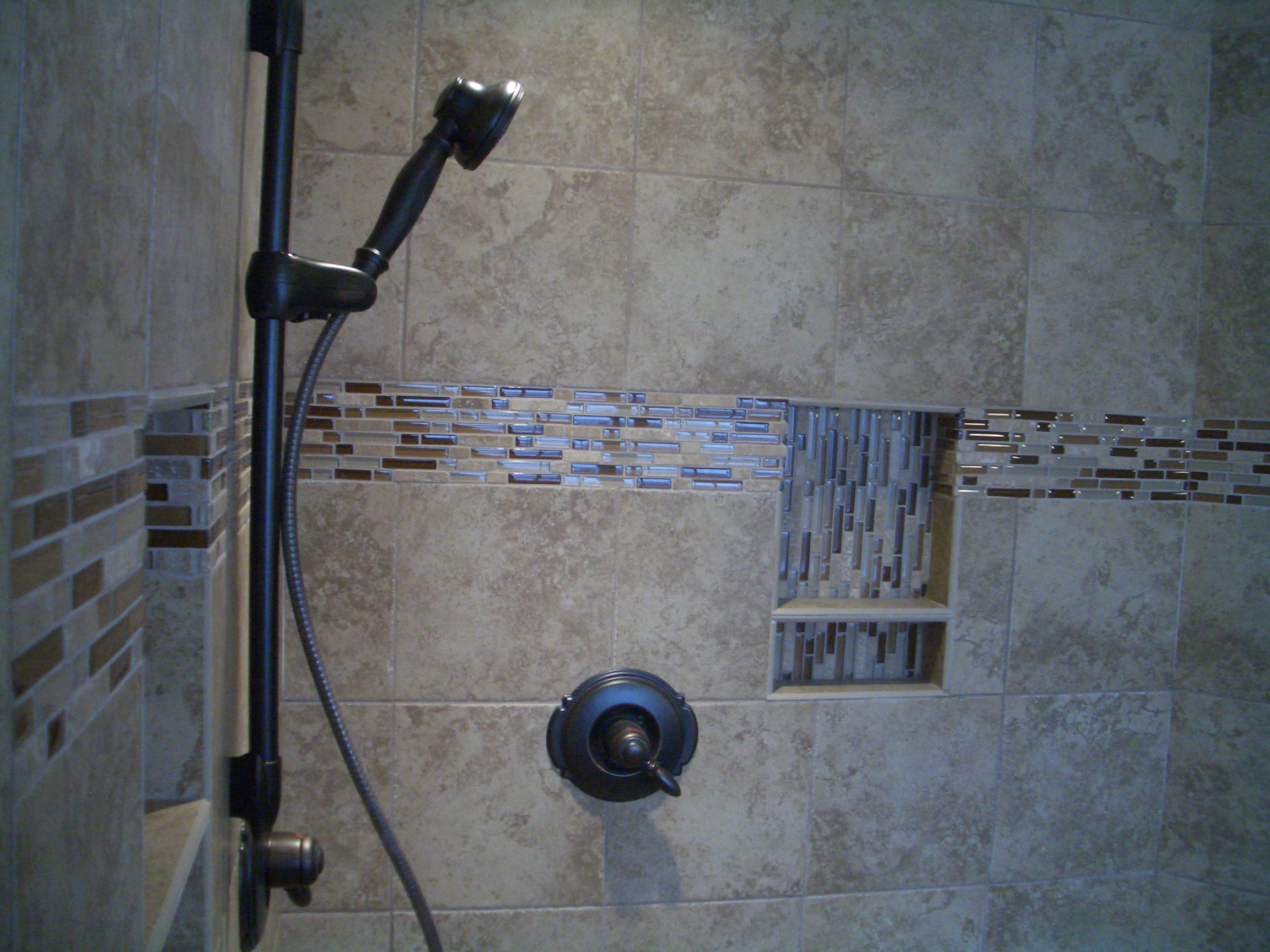 Tile For Bathroom Shower Walls Glass Tiles As Accents In Tile Installations